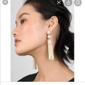 New Baublebar Granita Tassel Earrings Silver